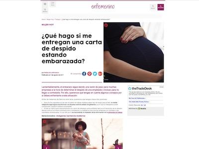 ¿Qué hago si me entregan una carta de despido estando embarazada?